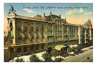 Avenida Theatre - The theatre and the former Hotel Castilla as they appeared around 1910