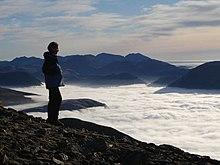 Temperature inversion in the Lake District