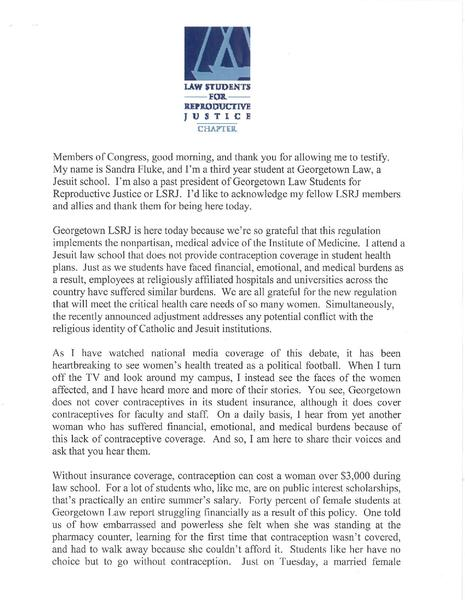 File:Testimony - Sandra Fluke.pdf