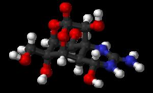 Tetrodotoxin - Image: Tetrodotoxin based on xtal 1970 3D balls