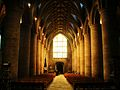 Tewkesbury Abbey, nave, looking west.jpg