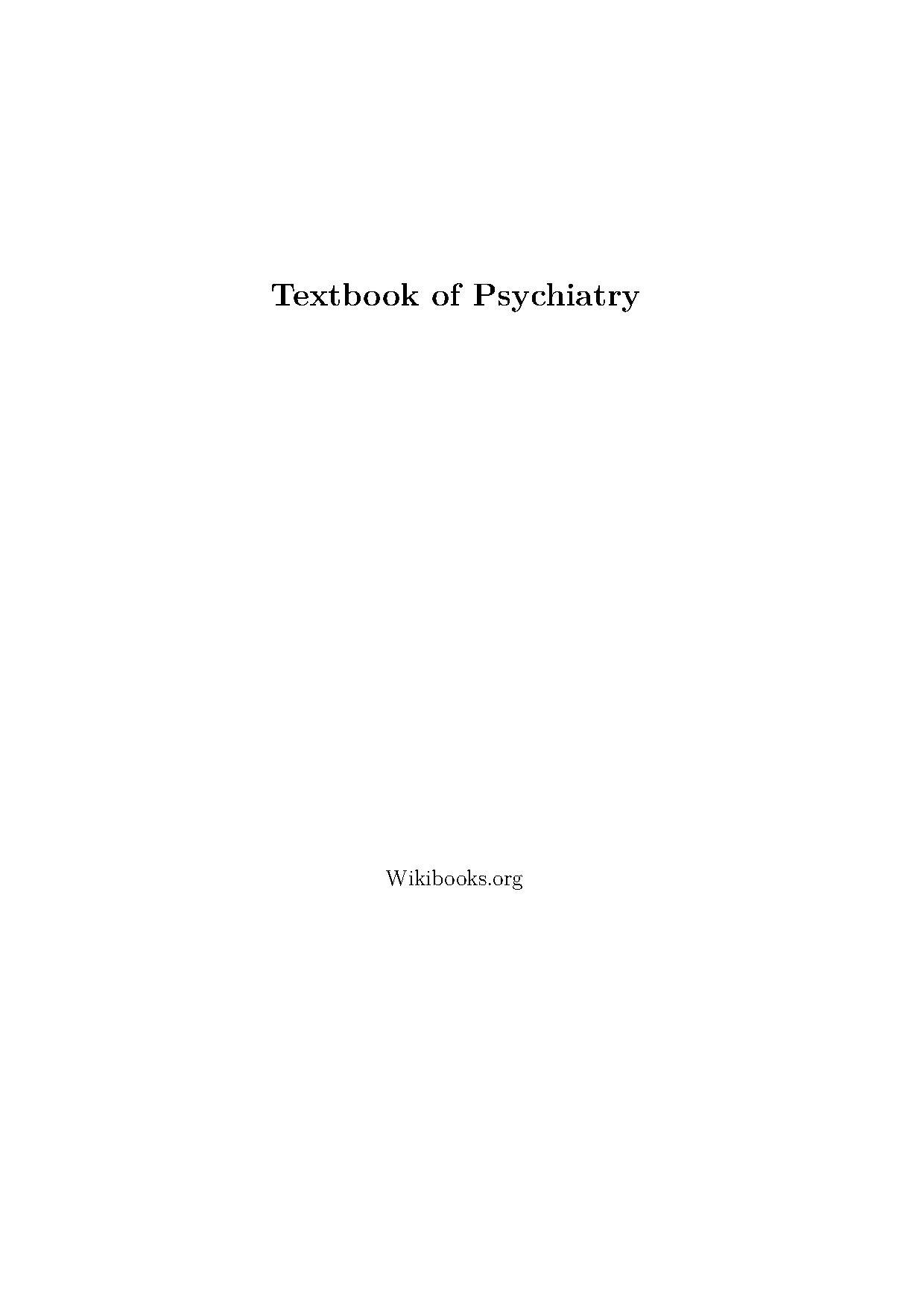 introductory textbook of psychiatry pdf