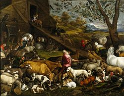 Jacopo Bassano: The Animals entering Noah's Ark