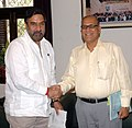 The Chief Minister of Goa, Shri Digambar Kamat meeting the Union Minister of Commerce and Industry, Shri Anand Sharma, in New Delhi on June 12, 2009.jpg