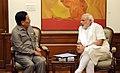 The Chief Minister of Sikkim, Shri Pawan Kumar Chamling calls on the Prime Minister, Shri Narendra Modi, in New Delhi on April 06, 2015 (1).jpg
