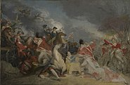 The Death of General Mercer at the Battle of Princeton 3 January 1777 unfinished version
