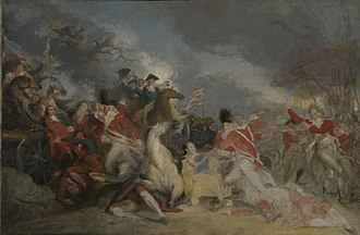 The Death of General Mercer at the Battle of Princeton, January 3, 1777 - Image: The Death of General Mercer at the Battle of Princeton 3 January 1777 unfinished version