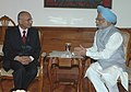 The Deputy Prime Minister of Nepal, Shri K P Sharma Oli calls on the Prime Minister, Dr. Manmohan Singh, , in New Delhi on November 06, 2006.jpg