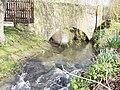 The Fontmell Brook runs under Piper's Mill Bridge - geograph.org.uk - 370286.jpg