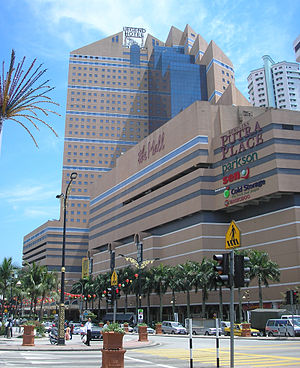 Sunway Putra Mall - The exterior of The Mall and Legend Hotel in 2007