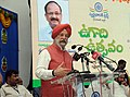 The Minister of State for Housing and Urban Affairs (IC), Shri Hardeep Singh Puri addressing the gathering at the Celebration of Ugadi Festival, in Swarna Bharat Trust, Hyderabad on March 18, 2018.jpg