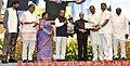 The President, Shri Pranab Mukherjee presenting the Dr. Ambedkar National Award for Social Understanding & Upliftment of Weaker Sections for the year 2012 to Samata Sainik Dal, at a function, in New Delhi.jpg