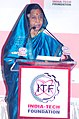 The President, Smt. Pratibha Devisingh Patil delivering the inaugural address at the '12th World Innovation Summit & Expo POWER India 2010', in Mumbai on October 27, 2010.jpg