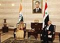 The President, Smt. Pratibha Devisingh Patil with the Prime Minister of Syria, Mr. Muhammed Nazi al-Otri, at Prime Minister's Office, in Damascus, Syria on November 27, 2010.jpg