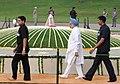 The Prime Minister, Dr. Manmohan Singh performing parikrama at the Samadhi of late Prime Minister, Pandit Jawaharlal Nehru on his 46th Death Anniversary, at Shanti Van, in Delhi on May 27, 2010.jpg