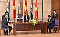 The Prime Minister, Shri Narendra Modi and the Prime Minister of the Socialist Republic of Vietnam, Mr. Nguyen Xuan Phuc witnessing the signing of agreements between India and Vietnam, in Hanoi, Vietnam on September 03, 2016.jpg