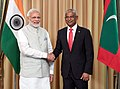 The Prime Minister, Shri Narendra Modi meeting the President of Maldives, Mr. Ibrahim Mohamed Solih, in Male, Maldives on November 17, 2018.JPG