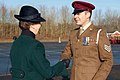 The Princess Royal presents a soldier with his Afghanistan campaign medal.jpg