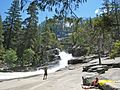 The Silver Apron, just above Emerald Pool and Vernal Falls along the Merced River. Looking east, Nevada Falls and then Little Yosemite Valley are beyond to the left. - panoramio.jpg
