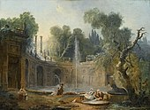 The Teatro delle Acque in the Garden of the Villa Aldobrandini by Hubert Robert.jpg