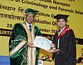 The Vice Chancellor, GGSIP, University, Delhi, Prof. Dilip K. Bandyopadhyay presented degree to the students, at the Graduation Ceremony for Post Graduate students of National Institute of Criminology and Forensic Science (1).jpg