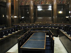 Council chamber in Swansea Guildhall