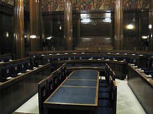 Swansea Guildhall - The council chamber