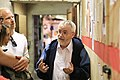 The founder of the Shoah Cellar Museum giving a tour.jpg
