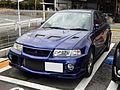 The frontview of Mitsubishi LANCER Evolution VI GSR.JPG