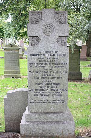 Robert William Philip - The grave of Robert William Philip, Grange Cemetery, Edinburgh