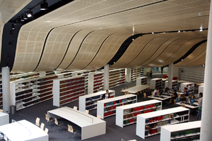 University of Sydney Library - The interior of the Herbert Smith Freehills Law Library at the University of Sydney showing its curved ceiling