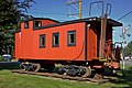 The railroad car in the Wilkeson Railroad Street park.jpg