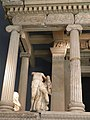 The reconstructed façade of the Nereid monument of Xanthos, British Museum, London (9500947685).jpg