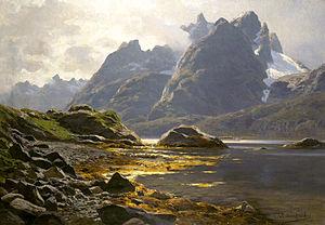 Austvågøy - Image: Themistokles von Eckenbrecher Raftsund 1906