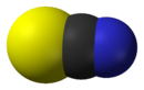 Space-filling model of the thiocyanate anion
