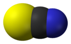 The thiocyanate anion (space-filling model)