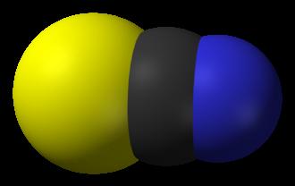 Thiocyanate - Image: Thiocyanate 3D vd W