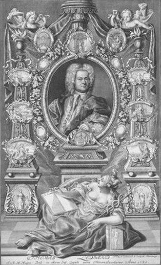 Thomas Lediard - Thomas Lediard, from his Eine Collection verschiedener Vorstellungen in Illuminationen (1730)