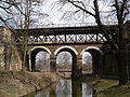 Three railway bridges over rokytka from the south.JPG