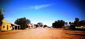 Tibooburra, New South Wales - Tibooburra main street in 1976