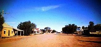 Tibooburra, New South Wales - Tibooburra main street in 1976