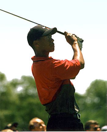 Tiger Woods during his first U.S. Open at Beth...