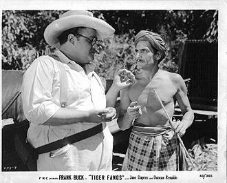 Pedro Regas - Dan Seymour (left) and Pedro Regas in the Frank Buck film Tiger Fangs (1943)