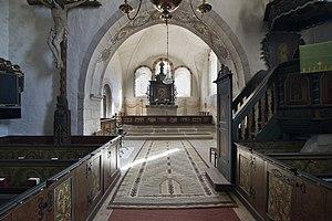 Tingstäde Church - Interior view towards the choir