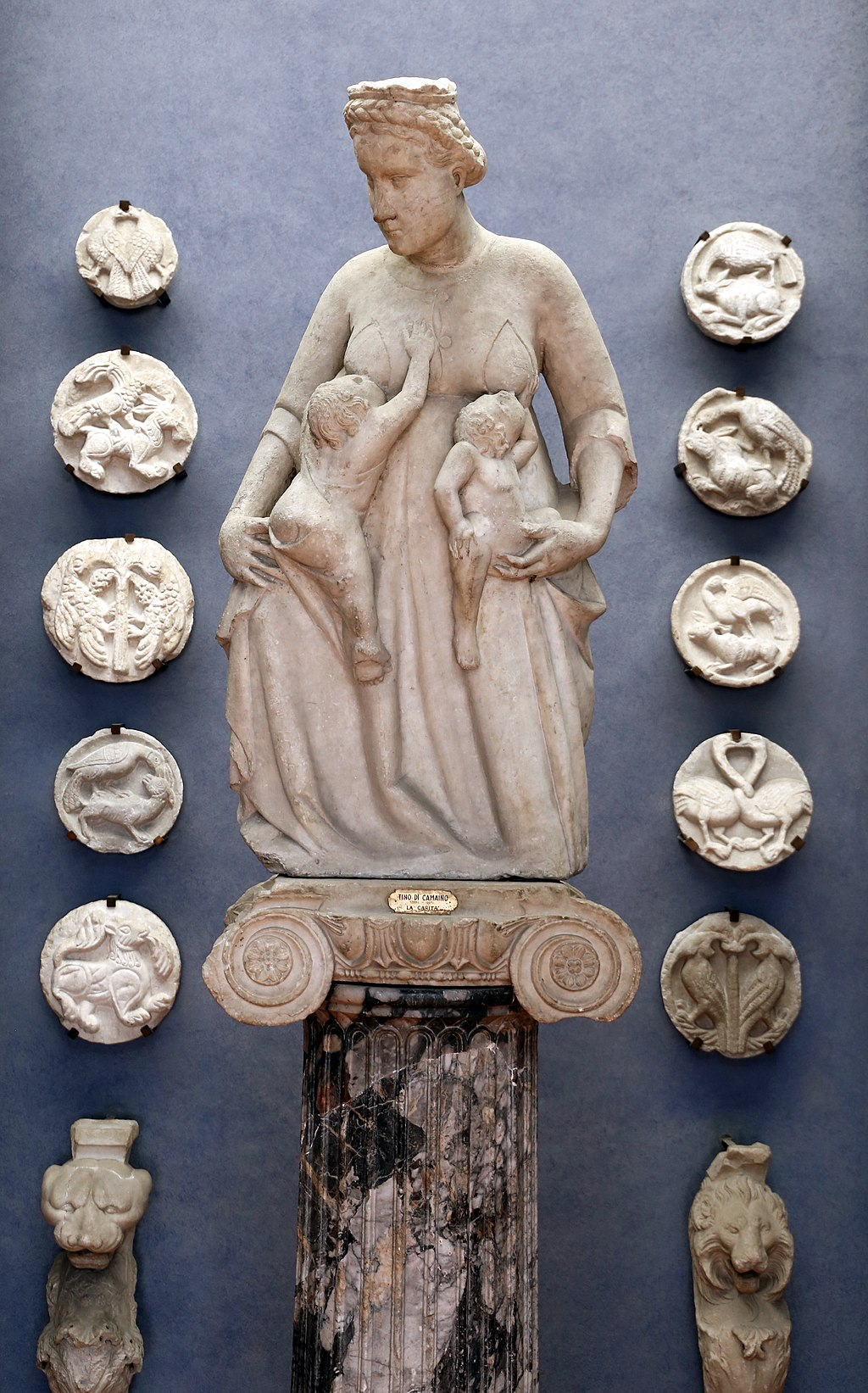 Tino di Camaino, Allegory of Charity