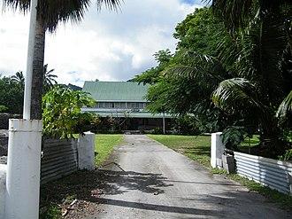 Tinomana Mereana Ariki - Tinomana Palace at Arorangi, Rarotonga