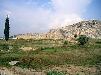 Tiryns - General view of the Citadel of Tiryns, with Cyclopean masonry
