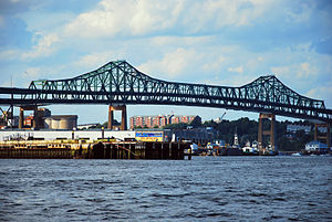 Tobin Bridge - The Tobin Bridge viewed from East Boston