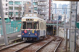 Toden Arakawa Line - A Toden Arakawa line tram, near Kishibojinmae Station