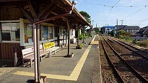 Tokawa Station - Image: Tokawa Station platform 20151004